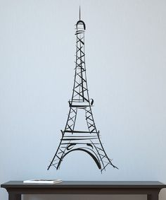 Easy eiffel tower drawing these die cuts will make great vinyl eiffel tower sketched decal zulilyfinds thecheapjerseys Gallery