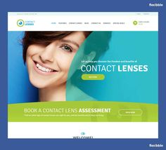 Contact Lenses Store / Vision Therapy Clinic Medical WP Theme