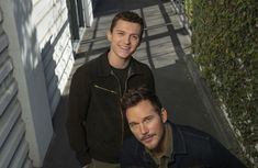 Chris Pratt and Tom Holland on their brotherly bond in Pixars Onward and navigating Marvel stardom pinned from March 09 2020 at Marvel News, Marvel Actors, Spiderman, Baby Toms, Handsome Male Models, Tom Holland Peter Parker, Tommy Boy, Chris Pratt, Favorite Person