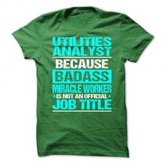Awesome Shirt For Utilities Analyst