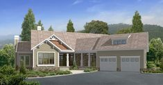 This mountain style home is beautifully done with angles. The exterior elevation is a country craftsman style and has an angled, covered front porch with 2 entrances to the house from the porch.[...] Type: House Plan, Sq.Ft.: 1960, Levels: 2, Bedrooms: 4, Bathrooms: 3, Width: 75 ft., Depth: 75 ft.