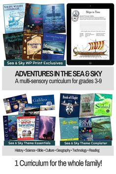 Adventures in the Sea and Sky, an amazing new multi-sensory curriculum that can be taught to all your children between grades 3 and 9 (with extended ideas for younger and older children). Charlotte Mason Curriculum | winter promise | winterpromise | homeschool science | homeschool social studies | homeschool socials | homeschool culture | homeschool unit studies | unit studies | charlotte mason ideas | charlotte mason inspired | charlotte mason homeschooling | homeschooling charlotte mason…