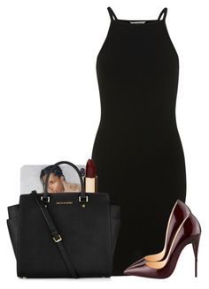 """""""Untitled #425"""" by reyan ❤ liked on Polyvore featuring Miss Selfridge, Christian Louboutin, Mimco and Michael Kors"""