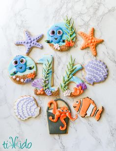 Finding Dory Cookie Set by Tikkido.com