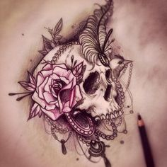 Rose skulls - Skullspiration.com - skull design, art, fashion and more on We Heart It - http://weheartit.com/entry/53438466/via/shezpalmer