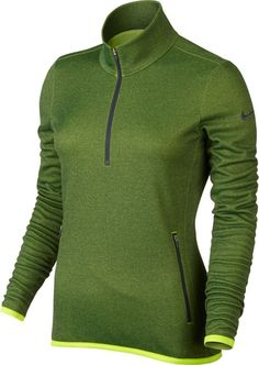 Nike Thermal 1/2 Zip Golf Pullover 2015 Ladies Volt X-Small. Ladies Outerwears.