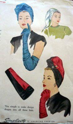 Vintage turban dress patterns.