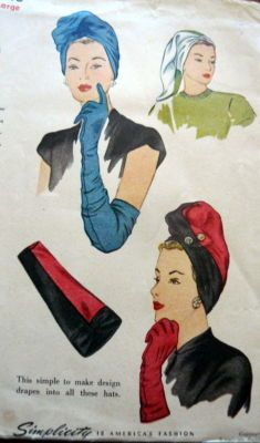 Vintage turban dress patterns.