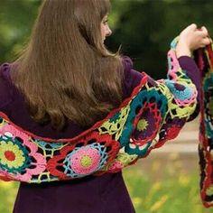 Bufanda de círculos muy bonita. De la web