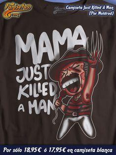 """Nos despedimos con una canción de #Queen interpretada por el gran Freddy MerKrueger! Yeeeeahhh! """"Mamaaaa Just Killed A Maannn"""" #BohemianRhapsody Grandiosa #Faniseta! Mañana más #Camisetas molonas para tod@s! http://www.fanisetas.com/camiseta-freddye-mercruger-p-5432.html"""