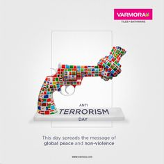 This day spreads the message of global peace and non-violence Anti-Terrorism Day. National Days, Spreads, Faucet, Tiles, Marble, Peace, Wall Tiles, Marbles