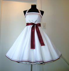 Nr. 2  Petticoatkleider - 50er-Jahre-Brautkleid Polly 1 - ein Designerstück von 50er-fashion bei DaWanda