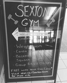 from @dalplex  Sexton Campus people! Get your work-out grind on at #Sexton Gym! FREE MEMBERSHIP with your dal card! #healthyliving #Dal fitness classes offered through the week.  Stop by and see what's coming up next!
