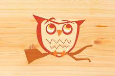 71 DESIGN STUDIO - Creative Journal - Owl Illustration onWood