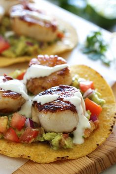 These Scallop Tostadas are SO good and really easy to make!