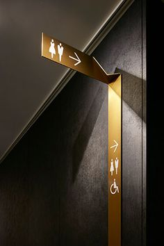 signaletik Nikken Space Design Mommy Second Child Since she's been there, done that, what do you get Hotel Signage, Office Signage, Wayfinding Signage, Signage Design, Environmental Graphic Design, Environmental Graphics, Wc Public, Wc Sign, Architectural Signage