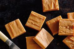 """Two-Ingredient Dulce de Leche Fudge—You don't need a candy thermometer to make this decadent two-ingredient """"cheater"""" fudge. For best results, use a thicker, more spread-like dulce de leche rather than the runnier sauce-like variety."""