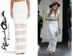 Amber Heard's Alice   Olivia Ettley Lace Maxi Skirt