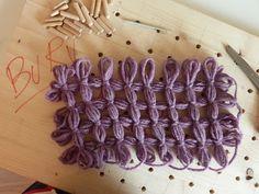 Nella valigia della Buru: Tutorial: come eseguire i nodi in un lavoro al telaio o telaietto metallico