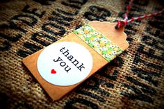 Rustic thank you gift tag with twine