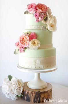Camile - Vintage Garden Wedding Cake - The Pastry Studio, Daytona Beach, FL
