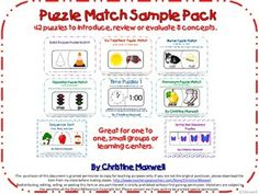 FREE! Puzzle Match Sample Pack