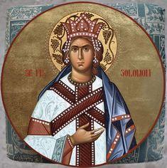 Icon of King Solomon. Byzantine Icons, Byzantine Art, Roman Church, King Solomon, Orthodox Christianity, Old Testament, Orthodox Icons, Saints, Religion