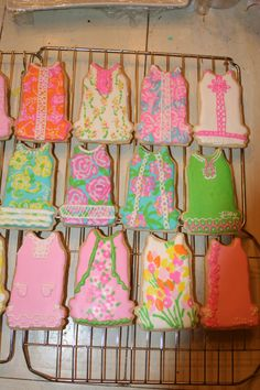 Lilly Pulitzer sugar cookies