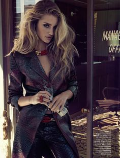 Vogue Brasil April 2013 – Rosie Huntington-Whiteley by Henrique Gendre