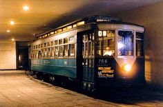 An old DC Trolley car underground at Mass. Ave.