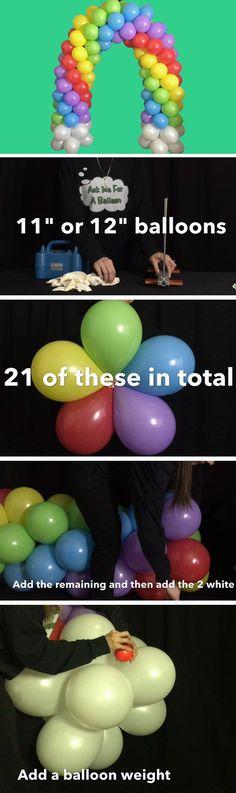 Balloon Rainbow Arch | DIY St Patricks Day Decorations Decor Ideas | Easy DIY Rainbow Party Decorations Ideas