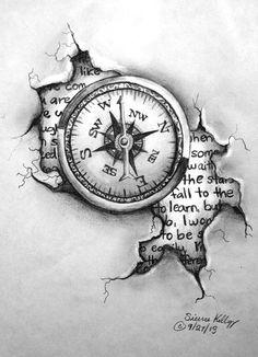 Tattoo Design - Compass by shezaniftyblonde.deviantart.com on @deviantART