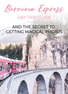 On the Bernina Express all you have to do is sit back and soak up the fairytale scenery - The perfect trip for a mid-holiday breather! Travel Around Europe, Overseas Travel, Travelling Europe, Traveling, Places To Travel, Places To Go, Bernina Express, Travel Jobs, Northern Italy