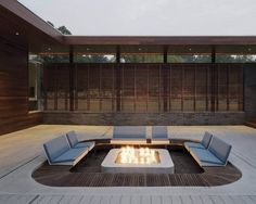 A contemporary firepit