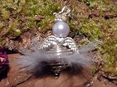 Anhänger Engel - 5 Charms Engel Fell silber DIY - ein Designerstück von Beads-for-Beginners bei DaWanda