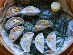 Songpyeon - Sweet sesame filled rice cakes - used to love making these with my mom & grandmother!
