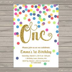 Birthday party invitations colorful confetti front white birthday party invitations colorful confetti front white indis 1st birthday party pinterest confetti party invitations and birthdays filmwisefo