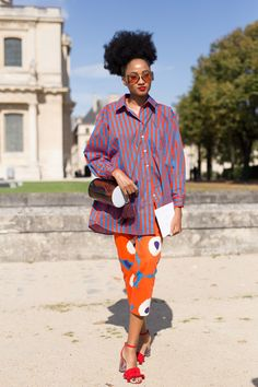 A selection of the best, coolest, and most inspiring street style outfits from the sidewalks of Paris during the spring 2018 fashion shows taking place September 2017.