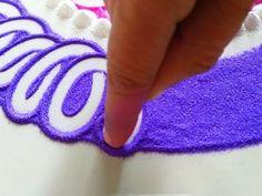 Beautiful freehand rangoli design by DEEPIKA PANT - YouTube