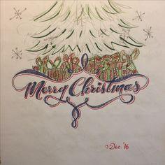 Christmas calligraphy concept