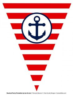 Free Nautical Party Printables From Ian & Lola Designs intended for Nautical Banner Template - Business Template Ideas Nautical Mickey, Nautical Banner, Nautical Clipart, Nautical Party, Sailor Birthday, Sailor Party, Sailor Theme, Baby Shower Marinero, Sailor Baby Showers