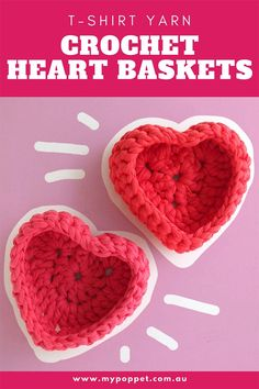 Crochet Heart Shaped Storage Baskets | My Poppet Makes Valentine Special, Valentines For Kids, Valentine Day Gifts, Crochet Snowflakes, Crochet Doilies, Little Bit Of Love, Basket Crafts, Crochet Butterfly, Gifts For Your Boyfriend