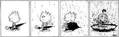 Rain - Calvin and Hobbes