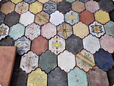 Gorgeous reclaimed Italian renaissance hand decorated terracotta tiles - $30 (San Francisco) | Antiques for Sale
