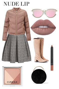 """Nude lip set"" by dilianavk on Polyvore featuring beauty, Rumour London, Miss Selfridge, Attilio Giusti Leombruni, Eddie Borgo and Clinique"