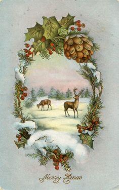 Vintage Christmas Postcard 1914