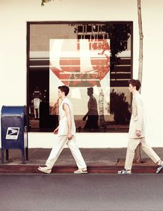 William Eustace & Chris Davis Hit the City for GQ Style Korea