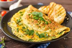 You might be forgiven for believing breakfast is for toast and cereal, but introducing seafood into your morning routine can be delicious and healthy! Omelette Baveuse, Delicious Breakfast Recipes, Healthy Recipes, How To Make Omelette, Vegetarian Lifestyle, Queso Fresco, Brunch Dishes, Frozen Meals, Veggies