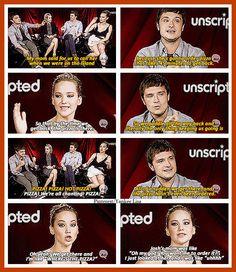 The Hunger Game's cast lol gotta love them