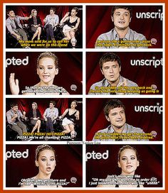 The Hunger Game's cast lol gotta love them